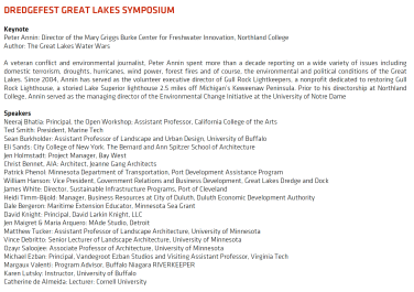 The lineup of lecturers and speakers for the Symposium
